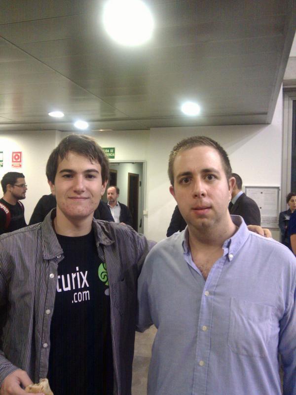Luis Ivan Cuende con David Sanchez Rodriguez